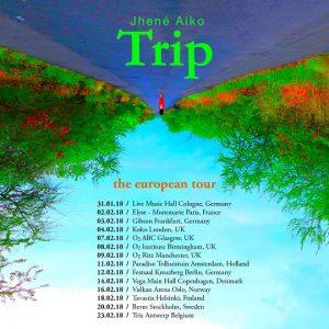 jhené aiko, trip tour dates, europa