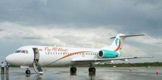 fly all ways, suriname, paramaribo, fokker f70