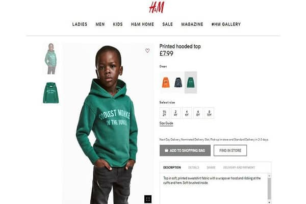 h&m, advertentie, jongetje, hoodie, coolest monkey in the jungle