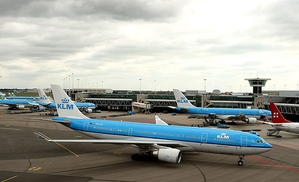 klm, amsterdam, schiphol airport