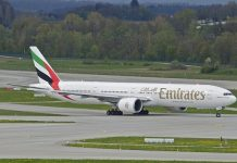 emirates, boeing 777, aircraft, airplane