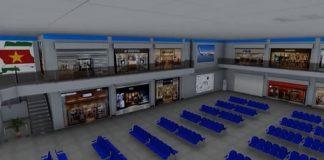 nieuwe vertrekhal, zanderij, luchthaven suriname