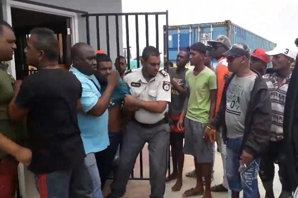 verdachte, brute aanval, visserboot, suriname, guyana