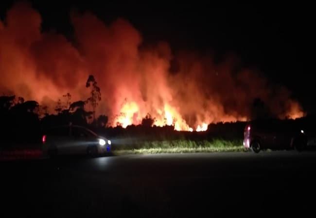 bosbrand, suriname, verlengde gomperstraat, suri village