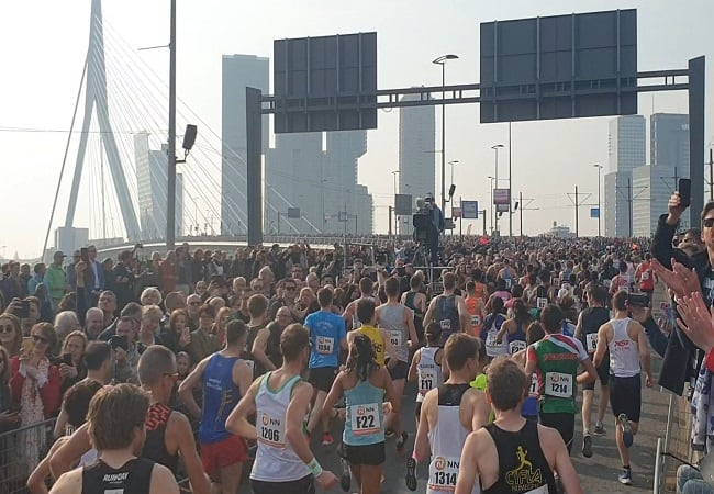 marathon rotterdam, erasmusbrug, 2019